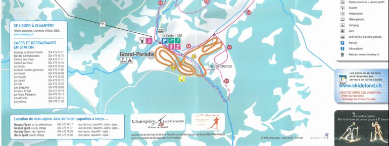 Loipenplan Champery