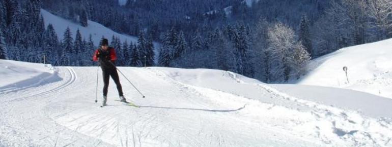 """Die 5 Kilometer lange Rundloipe """"Grand Paradis"""" eignet sich zum Skating und klassischen Langlauf."""
