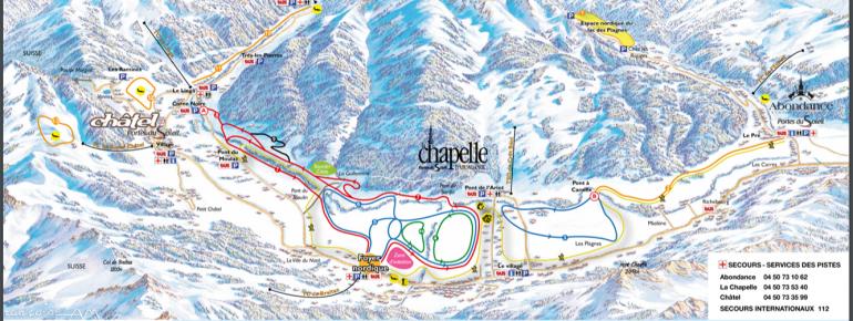 Trail Map Chatel