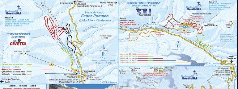 Trail Map Civetta