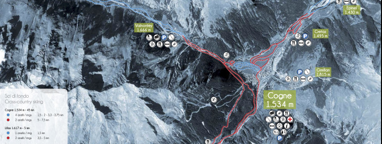 Trail Map Cogne Gran Paradiso