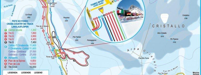 Loipenplan Cortina d'Ampezzo