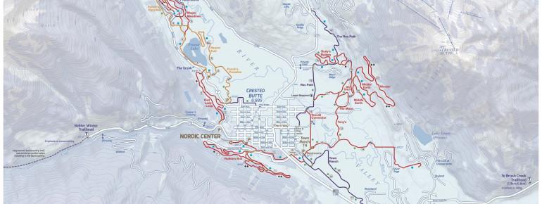 Loipenplan Crested Butte Nordic Center