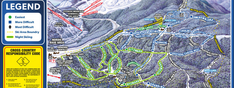 Trail Map Cypress Mountain - Hollyburn Mountain