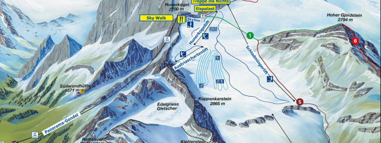 Trail Map Dachstein Gletscher