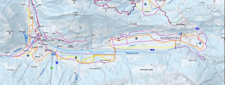 Trail Map Mellau