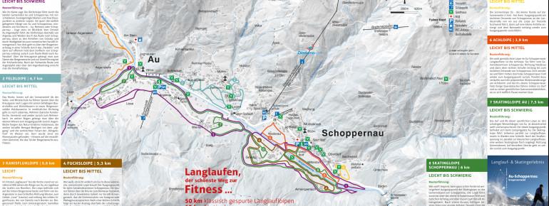 Loipenplan Au - Schoppernau