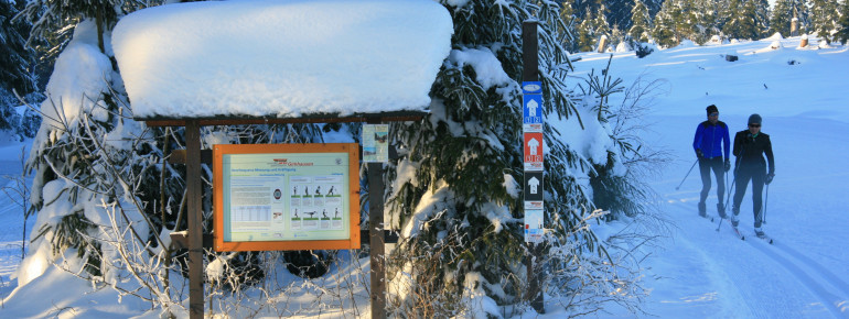 Das DSV Nordic Aktiv Zentrum Girkhausen bietet 30 Loipenkilometer.