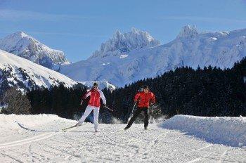 35 bestens präparierte Loipenkilometer sorgen rund um Engelberg für Langlaufvergnügen.
