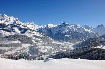 Die traumhafte Winterlandschaft rund um Engelberg.