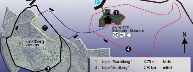 Loipenplan Ernstberg bei Daun