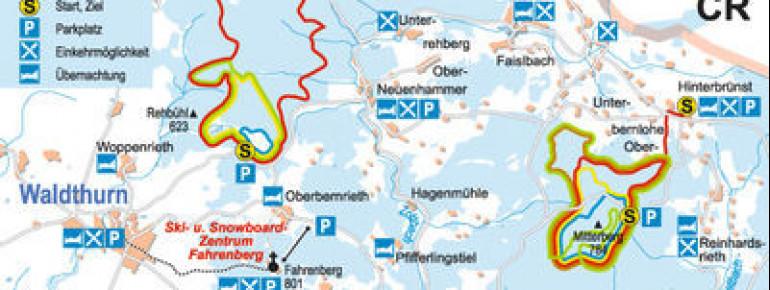 Loipenplan Fahrenberg - Mitterberg