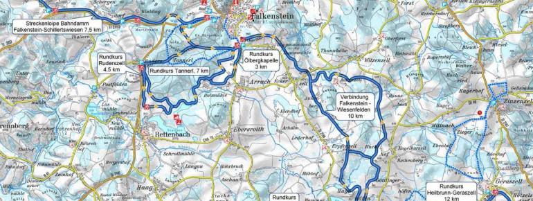 Loipenplan Falkenstein - Rettenbach - Wiesenfelden