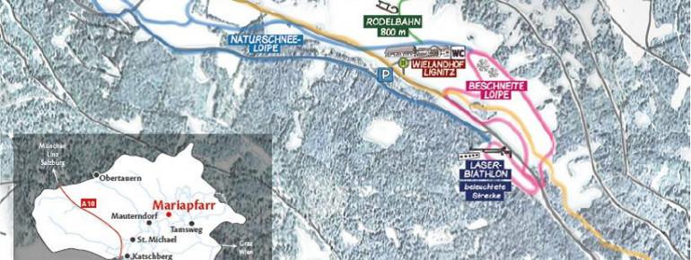Loipenplan Langlaufzentrum Lignitz - Mariapfarr