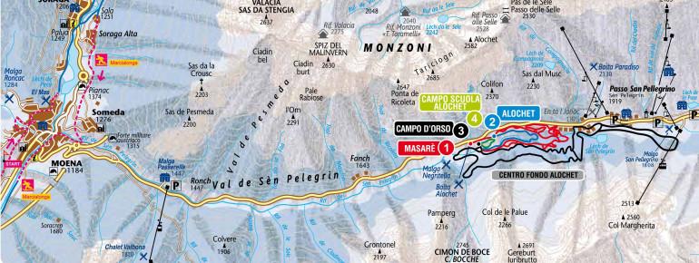 Loipenplan Fassatal (Val di Fassa)