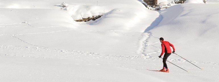 Durch das Val di Fassa verlaufen zahlreiche bestens gespurte Loipen.