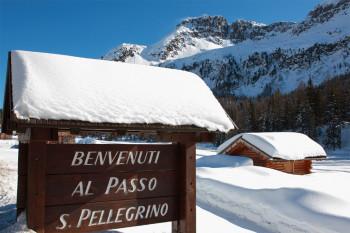 Auch am San Pellegrino Pass kann man langlaufen.