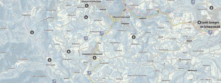Loipenplan Ferienland Schwarzwald