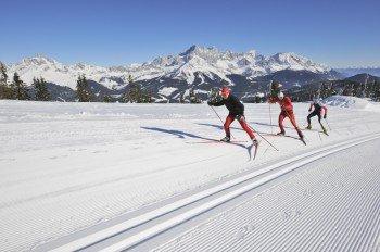 Langlaufen mit Ausblick - das bietet Filzmoos in der Salzburger Sportwelt.