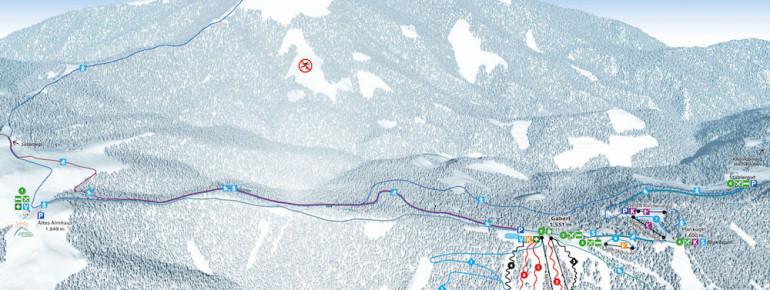 Loipenplan Gaberl - Salzstiegl