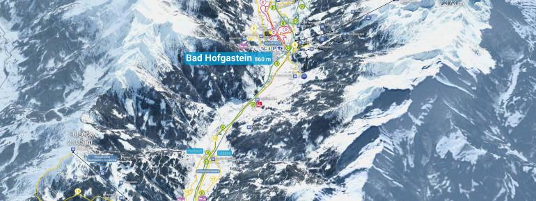 Trail Map Gastein Valley