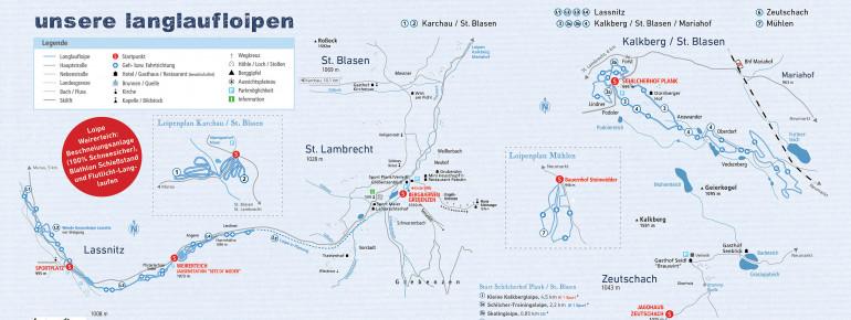 Trail Map Zirbitzkogel-Grebenzen Nature Park