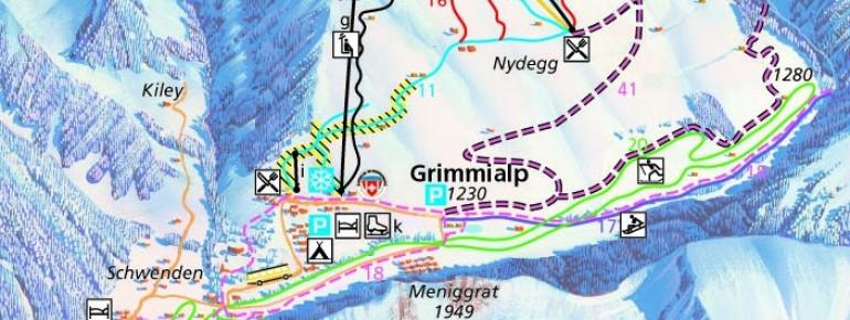 Loipenplan Grimmialp Diemtigtal