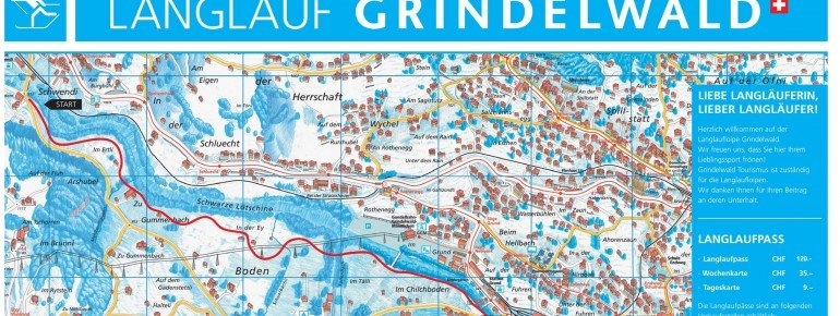 Loipenplan Grindelwald