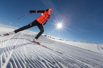 Ein Highlight ist duie Loipe auf dem Glacier 3000 auf circa 3100 Höhenmetern.