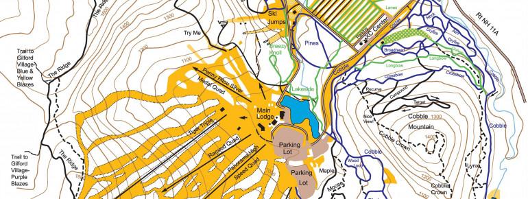 Loipenplan Gunstock Ski Area