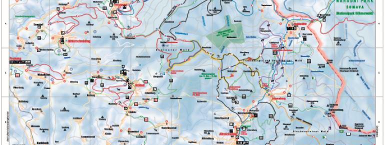 Trail Map Haidmühle-Bischofsreut-Frauenberg