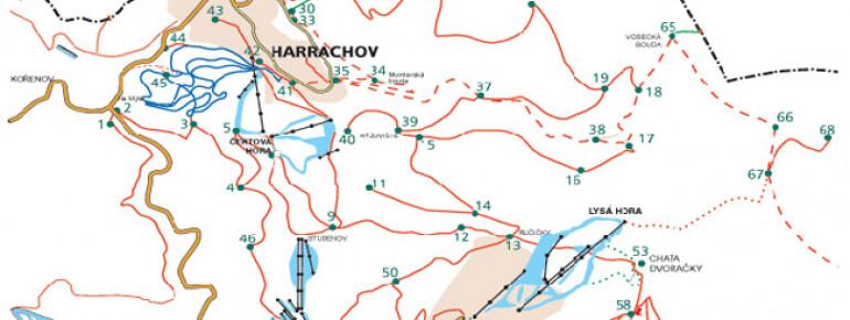 Loipenplan Harrachov (Harrachsdorf)