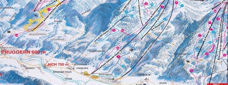 Trail Map Hauser Kaibling Schladming Ski amade