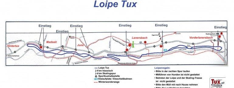 Loipenplan Tux-Finkenberg