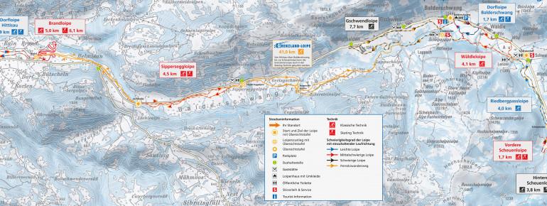 Loipenplan Hittisau - Balderschwang