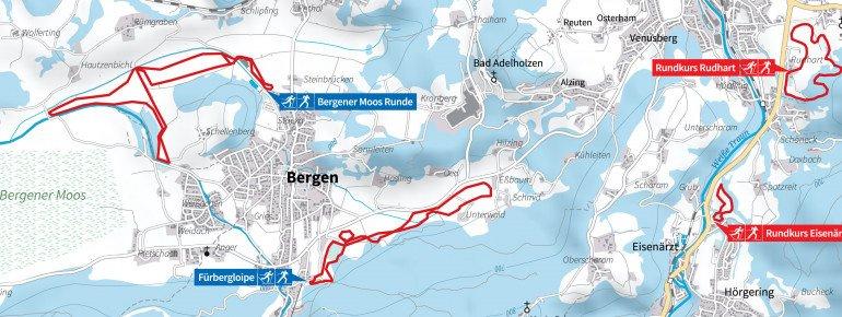 Loipenplan Bergen im Chiemgau