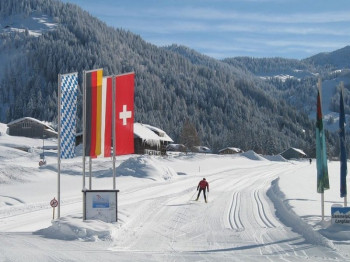 Loipeneinstieg in Balderschwang