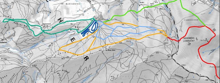 Loipenplan Hohenbogen - Rittsteig