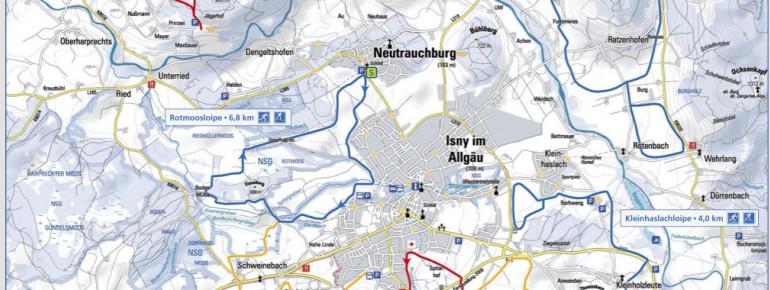 Loipenplan Isny - Maierhöfen