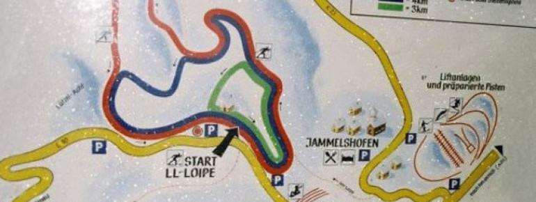 Loipenplan Jammelshofen bei Kaltenborn
