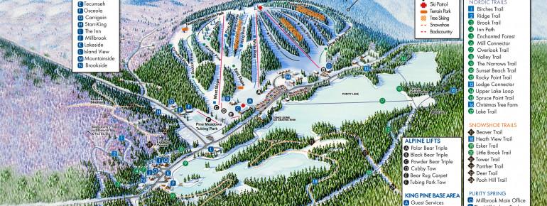 Loipenplan King Pine Ski Area
