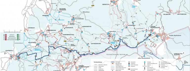 Loipenplan Klingenthal - Mühlleiten