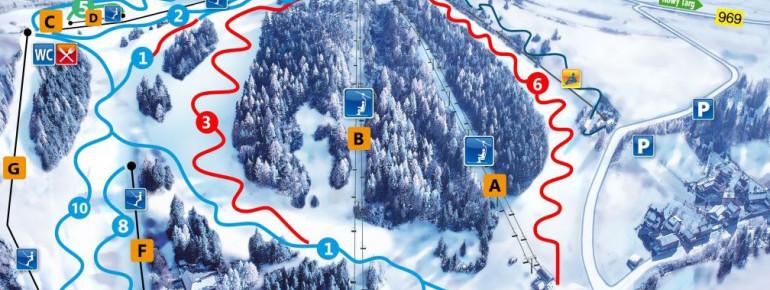 Loipenplan Czorsztyn Ski