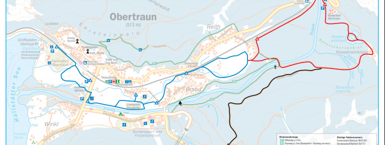 Trail Map Krippenstein Obertraun