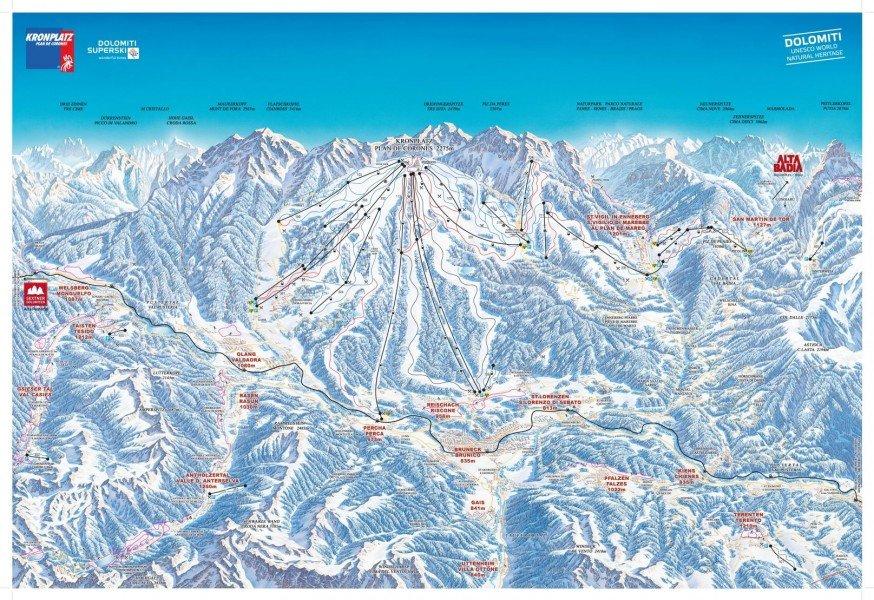 Cross-Country Skiing Trail Map Kronplatz • Nordic Trail Map