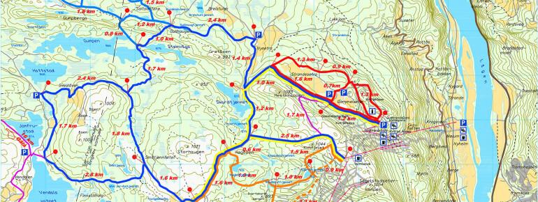 Loipenplan Kvitfjell