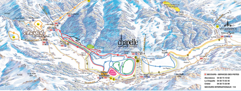 Trail Map La Chapelle d Abondance