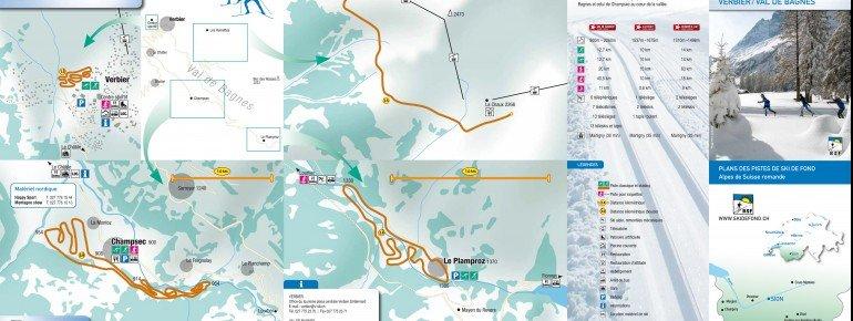 Loipenplan Verbier / Val de Bagnes