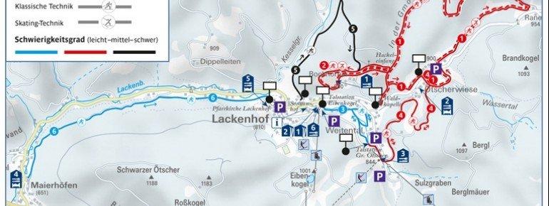 Loipenplan Lackenhof Ötscher