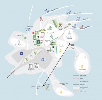 Überblick über das komplette Angebot im Lake Mountain Alpine Resort